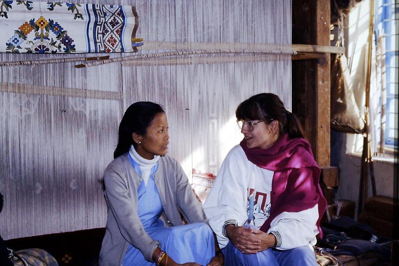 Claudia van Wezel in India
